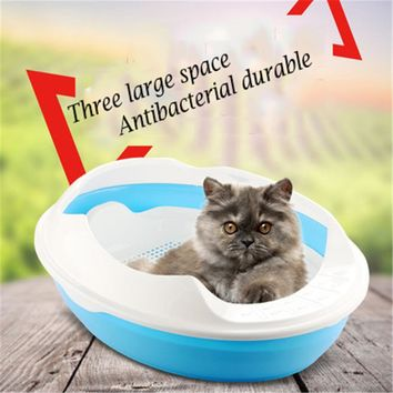Large Plastic Cat Litter Box Grid Clean Restroom Toiletr Cats Dog Tray Sand Cat Litter Box Reseau Pet Wc Goods Pets DDM2443