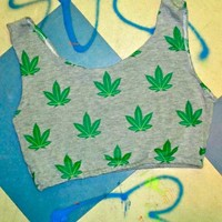 SWEET LORD O'MIGHTY! Weed Bralet In Grey