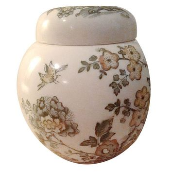 "Pre-owned Mason's Patent Ironstone ""Manchu"" China Jar"