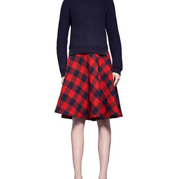 Pink Tartan Buffalo Plaid Circle Skirt
