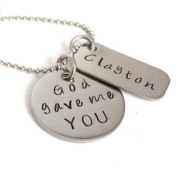 God gave me you personalized necklace