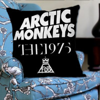 Arctic Monkeys the 1975 The Fall Out Boy on Decorative Pillow Cover by NaystaCover