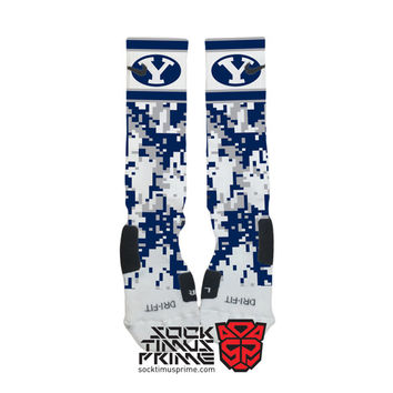 Custom Nike Elite Socks - BYU Cougars Custom Nike Elites - Brigham Young University, BYU Socks, BYU Football, Custom Elites