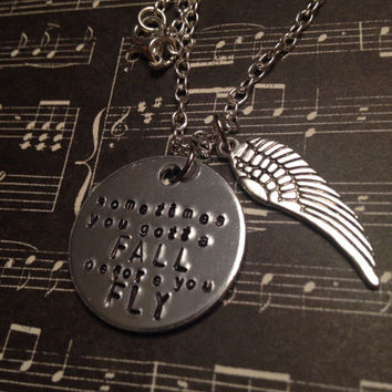 Sleeping With Sirens Lyrics Hand Stamped Necklace