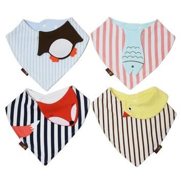Novelty Cotton absorbent newborn Baby babador bandana bibs for baby Towel Toddler Triangle Scarf boys Girls Infant Saliva Towel