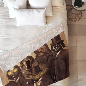 Terry Fan Victorian Wars Fleece Throw Blanket