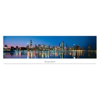 Chicago, Illinois - Lights Panorama