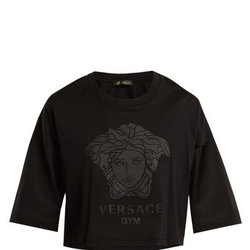 Logo-print cotton T-shirt | Versace | MATCHESFASHION.COM US