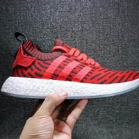 Best Online Sale Adidas NMD R2 Primeknit Blue BB2910  Boost Sport Running Shoes Classic Casual Shoes Sneakers