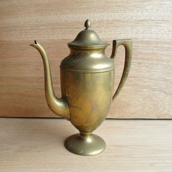 Dirigold Coffee Pitcher, Dirilyte Large Coffee Urn, Lidded Tea Pitcher, Bronze Alloy Coffee Pitcher, Marked Dirigold, Dirigold Coffee Pot
