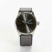 Nixon Sentry Leather-Lined Watch