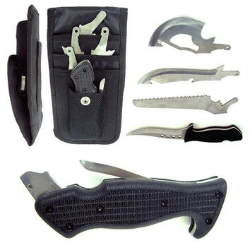 Trademark 4 in 1 Hunting Knife Set - Blade, Knife, Axe, and