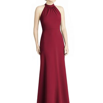 Jy - Jenny Yoo - JY538 High Halter Ribbon Accented Trumpet Gown