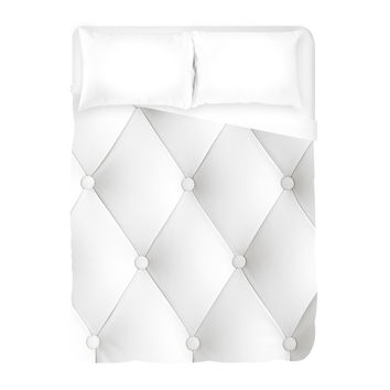 Faux Tufted Duvet Cover