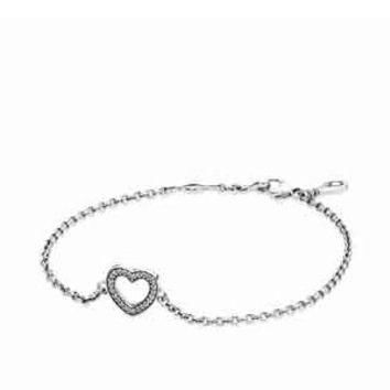 Authentic Pandora Jewelry - Symbol of Love Bracelet Clear CZ