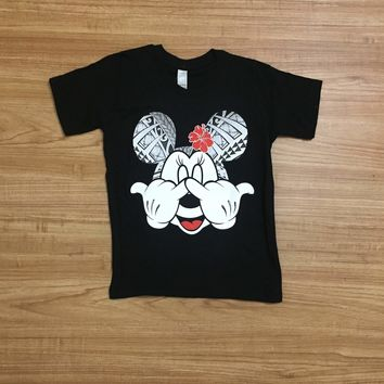 "PST Gear ""Shaka Flower"" Kids Black T-Shirt"