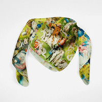 Hieronymus Bosch Silk Scarf The Garden of Earthly Delights Bandana Scarf Women Scarf Silk Men Spring Scarf Men Summer Scarf Head Silk Scarf