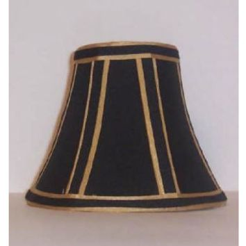 "68856 - Black Dramatic Gold Candelabra Clip On - 3"" Top X 5"" Bottom X 4"" Height"