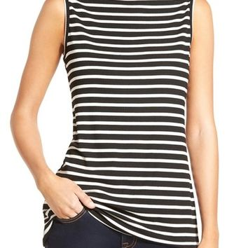 Ten Sixty Sherman Stripe Mock Neck Tank | Nordstrom