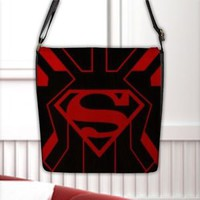 Kal-El Superman Superboy Justice League Flap Closure Shoulder Nylon MessengerBag