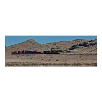 Train Going Around Mountains Poster