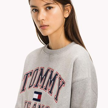 Tommy Hilfiger Jeans Fashion Embroidery Long Sleeve Top Sweater Pullover