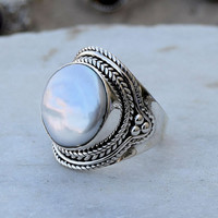 Pearl Ring-Sterling Silver