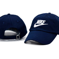 Unisex Navy Blue Nike Embroidered Baseball snapback cap Hat