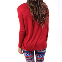 Red + Blue Print Legging | The Rage