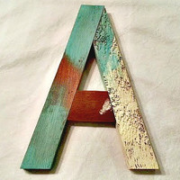 Reclaimed Wood Nursery Letters, Pallet Letters, Distressed Rustic Letters, Shabby Chic Décor