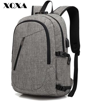 Anti theft Satchel Rucksack Backpacks School Bags for Boys and Girls Male Escolar Solid Backpack Schoolbag