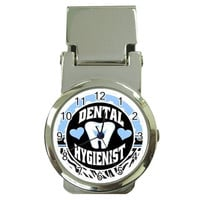 Dental Hygienist Money Clip Watch