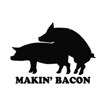 Making Bacon Car Sticker/Decal