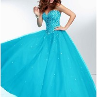 [132.99] Fabulous Tulle Sweetheart Neckline Floor-length Ball Gown Prom Dress - Dressilyme.com
