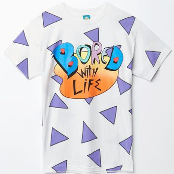 Teenage Bored With Life T-Shirt - Mens Tee - White