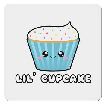 "Cute Cupcake with Sprinkles - Lil Cupcake 4x4"" Square Sticker by TooLoud"