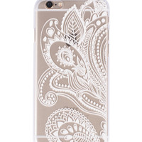 White Flower Henna iPhone case
