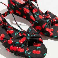 Jeffrey Campbell Goodbye Cherry Wedge Sandal | Urban Outfitters