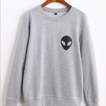Alien sweater letter sweater