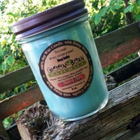 Crackling WOOD WICK 100% Soy Candle - you pick the scent- Organic- Vegan Eco friendly Renewable and  GMO Free