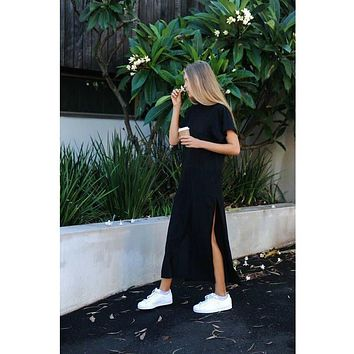 Maxi T Shirt Dress Women Summer Beach Sexy Elegant Casual Ukraine Vintage Linen Boho Party Long Black Bodycon Dresses Plus Size