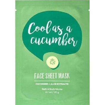 Bath & Body Works COOL AS A CUCUMBER Face Sheet MASK