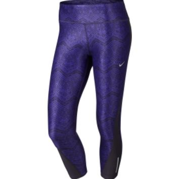 Nike Women's Printed Racer Cropped Running Tights