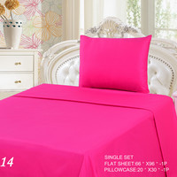 Tache 2 Piece Pink Superstar Bed sheet Set (Single) (Flat Sheet)