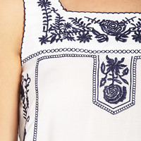 Remixed Prairie Embroidered Top