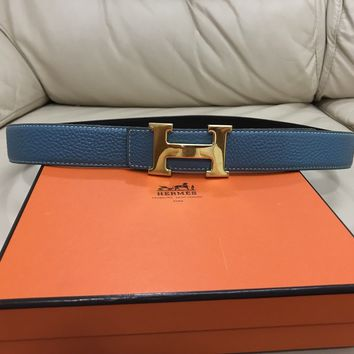 100% authentic Hermes Tiffany Blue Belt