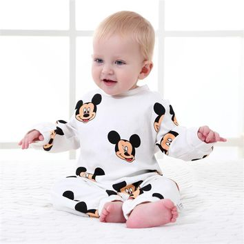 Baby Rompers Spring Baby Boy Clothes Cotton Newborn Baby Clothes Cartoon Baby Boy Clothing Sets Roupas Infant Jumpsuits
