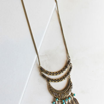 FIJI Necklace in Gold/Teal