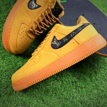 LV x Nike Air Force 1 Low AF1 Wheat Sport Shoes - Best Online Sale