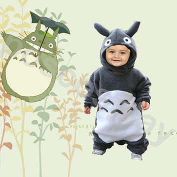 SALE-Costume  Anime Kigurumi Pajamas Cosplay Costume for kids children----TOTORO